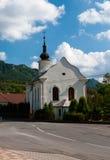 Church in Súľov Hradná, Bytča, Slovakia. Súľov-Hradná is a village and municipality in Bytča District in the Žilina Region of northern Slovakia Stock Photography