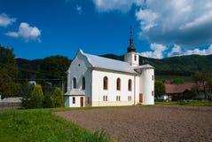 Church in Súľov Hradná, Bytča, Slovakia. Súľov-Hradná is a village and municipality in Bytča District in the Žilina Region of northern Slovakia Stock Image