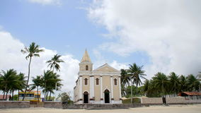 Church of São Pedro on beach. stock footage
