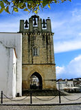 Church of Sé. Church tower of Sé located on Faro, Portugal Stock Photo