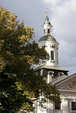 The church's bell tower.Riga, Peter and Paul Church. Now it is concert hall Ave Sol Royalty Free Stock Photography