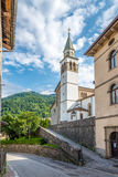 Church S.Daniele Profeta in Paluzza Royalty Free Stock Photos