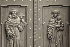 Church's door close up Stock Images