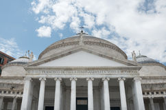 Church S. Francis of Paola  Basilica in Naples - Italy Royalty Free Stock Photography