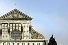 The church of S. Maria Novella. Detail of the fa�ade of the church of S. Maria Novella in Florence designed by Leon Battista Alberti from 1456 to 1470 Royalty Free Stock Images