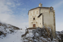 Church S. Mary of piety (Rocca Calacio Abruzzo) Stock Photos