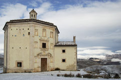 Church S. Mary of piety (Rocca Calacio Abruzzo) Stock Images
