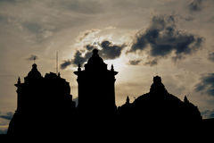 Church's silhouette. Silhouette of the mexican church in Oaxaca Stock Photos