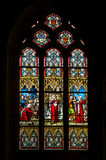 Church's window. A colorful church's window in Brittany, France Royalty Free Stock Photo