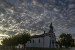Church of Saavedra royalty free stock photo