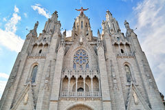 Church of the Sacred Heart in Barcelona Royalty Free Stock Image