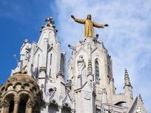 Church of the Sacred heart of Jesus in Barcelona, Spain stock photo