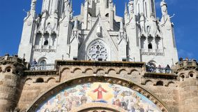 Church of the Sacred heart of Jesus in Barcelona, Spain
