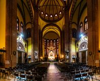 Church of Sacred Heart of Jesus in Bologna, Italy Royalty Free Stock Image