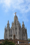 Church of the Sacred Heart of Jesus on Mount Tibidabo in Barcelona Stock Photo
