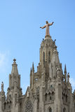 Church of the Sacred Heart of Jesus on Mount Tibidabo in Barcelona Stock Images