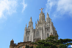 Church of the Sacred Heart of Jesus on Mount Tibidabo Stock Images