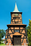 Church of the Sacred Heart of Jesus in Stegna, Poland. Stock Image
