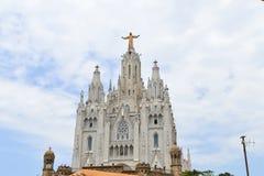 Church Sacred Heart of Jesus in Tibidabo, Barcelona, Spain on June 22, 2016. Stock Image