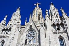 Church of the Sacred Heart of Jesus, Tibidabo Stock Photos