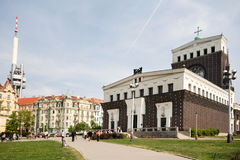 Church of Sacred heart, Prague Royalty Free Stock Image