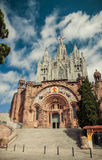 Church Sacred Heart.Tibidabo. Barcelona. Stock Photo