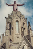 Church Sacred Heart.Tibidabo. Barcelona. Royalty Free Stock Photography