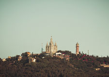 Church Sacred Heart.Tibidabo. Barcelona. Stock Image