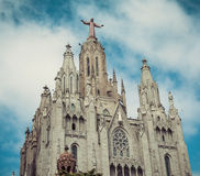 Church Sacred Heart.Tibidabo. Barcelona. Royalty Free Stock Photo