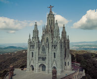 Church Sacred Heart.Tibidabo. Barcelona. Royalty Free Stock Photos
