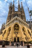 The church of Sagrada Família is the famous project of Antoni Gaudi. Barcelona, Spain - May 15, 2018. stock photo