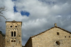 Church of Sainct Michael. Romanesque church of Sainct Michael of Valldarques, a famous and pintoresque little village in Alt Urgell, Lleida (Catalonia, Spain Stock Images
