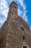 Church of Saint Andrew - Sarzana Italy. Facade and bell tower of the church of Sant'Andrea (Saint Andrew) X-XVI century in Sarzana, La Spezia, Liguria, Italy Royalty Free Stock Photography