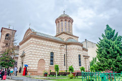 The Church Saint Anton located near Voievodal Palace, Curtea Veche. Royalty Free Stock Image