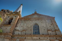 Church of Saint Apostles Peter and Paul. Chiesa dei Santi Pietro e Paolo, Pentedattilo, Calabria, Italy royalty free stock photos