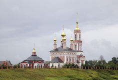 Church of Saint Archangel Michael and Church of Saint Frol and Pavel. Royalty Free Stock Photo