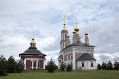 Church of Saint Archangel Michael and Church of Saint Frol and Pavel. Stock Photography