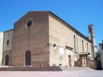 Church of Saint Augustine in San Gimignano Royalty Free Stock Photography