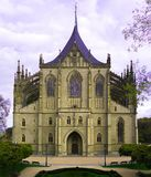 Church of Saint Barbara. In Kutna Hora - a small town of Czech Republic Royalty Free Stock Photo