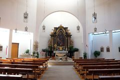 Church of Saint Bartholomew in Leutershausen, Germany.  stock photography