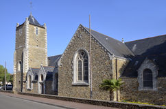 Church of Saint Brevin les Pins in France Royalty Free Stock Images
