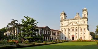 Church of Saint Cajetan in Old Goa, India Royalty Free Stock Images
