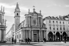 The church of Saint Carlo Borromeo, Turin, Italy Stock Photos