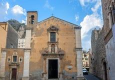 Church of Saint Catherine of Alexandria in Taormina, Sicily, It Stock Photography