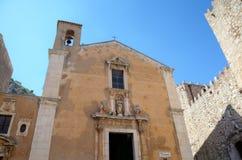 Church of Saint Catherine in Taormina. Stock Image