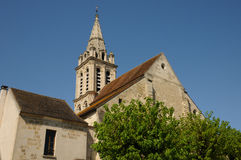 The church Saint Christophe Cergy Royalty Free Stock Images