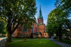 The Church of Saint Clare (Klara Kyrka) in Norrmalm, Stockholm, Stock Photo