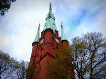 The Church of Saint Clare.Stockholm. Sweden royalty free stock photo