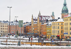 Church of Saint Clare in winter Gamla Stan of Stockholm Royalty Free Stock Photography