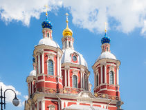 The church of Saint Clement of Rome in Moscow Royalty Free Stock Images